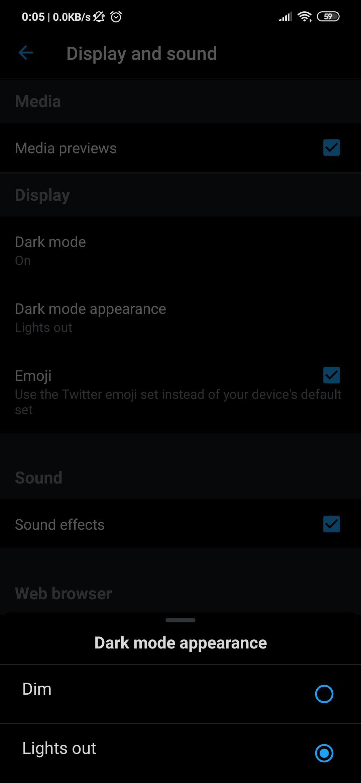 """رسميًا وضع """"إطفاء الأنوار"""" في تويتر يصل مستخدمي أندرويد"""
