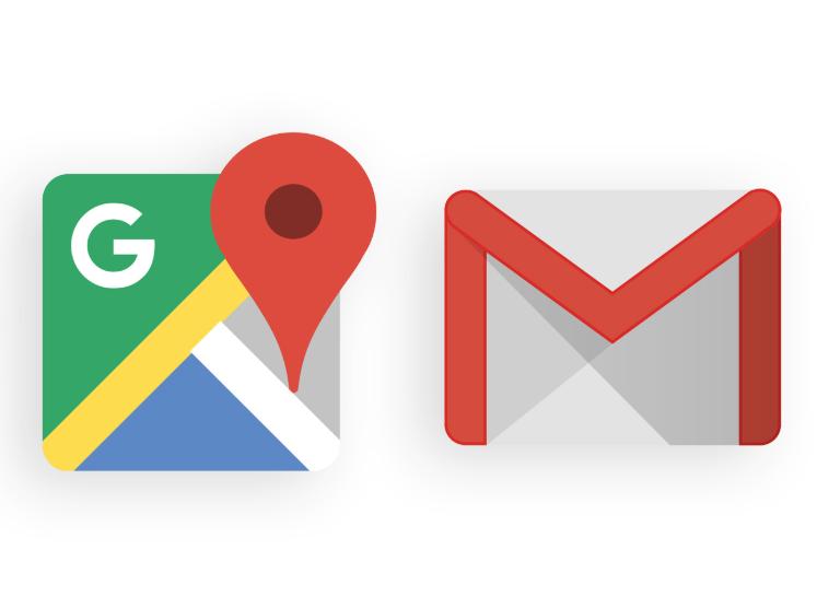 جيميل-وخرائط-جوجل