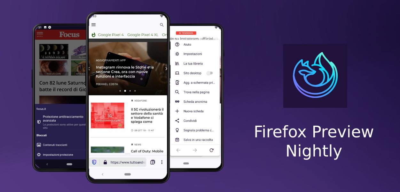 تطبيقات أندرويد - Firefox Preview Nightly