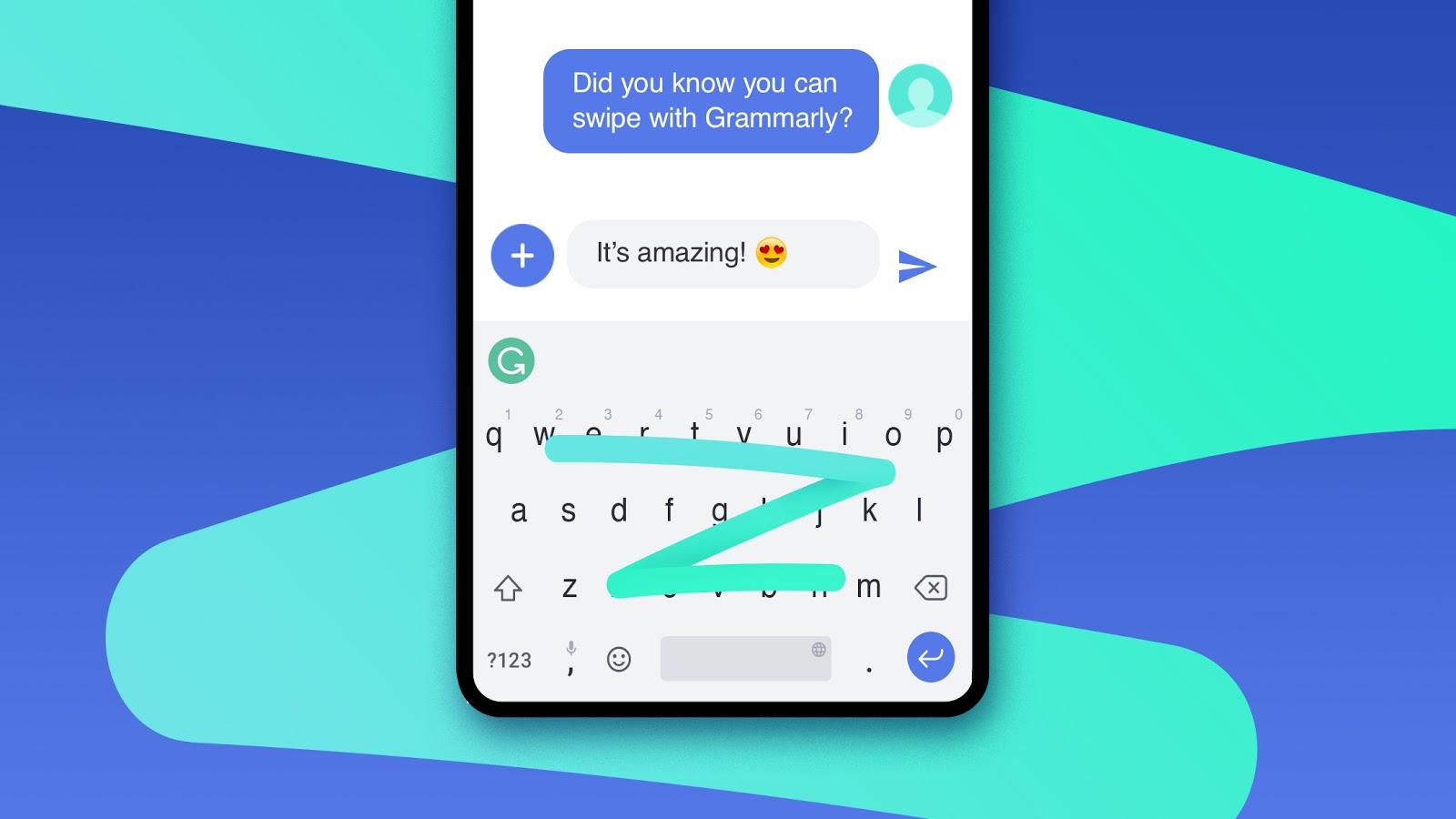 تطبيق لوحة المفاتيح Grammarly يدعم الآن الكتابة بالتمرير