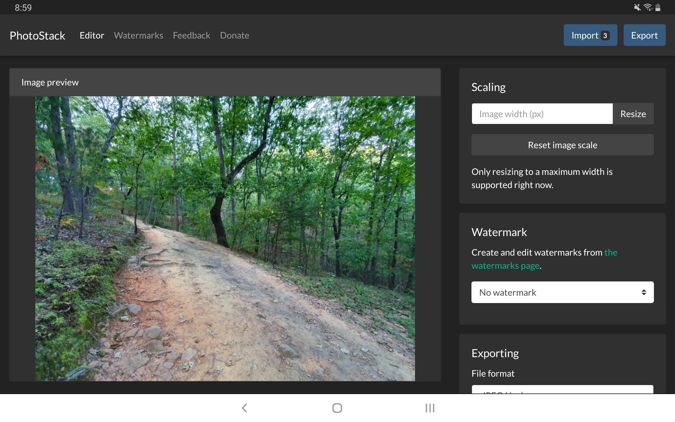 جديد التطبيقات على أندرويد PhotoStack لتحرير صور متعددة في وقت واحد