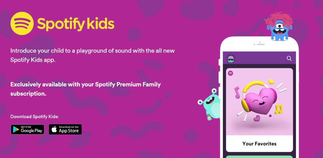 سبوتيفاي تُقدّم تطبيقها الخاص بالأطفال Spotify Kids على أندرويد و iOS
