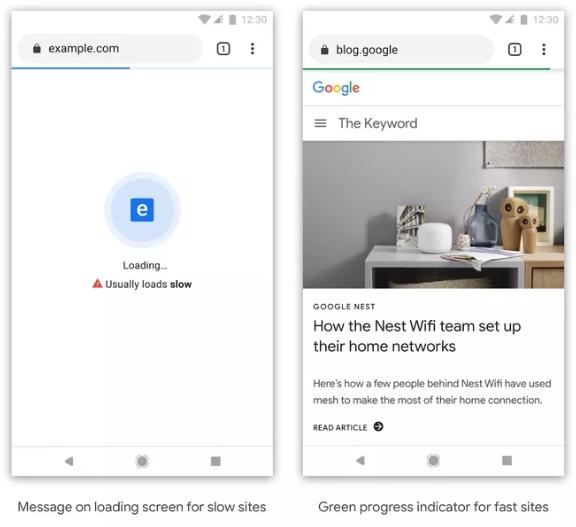 غوغل ستميز المواقع البطيئة بأيقونة خاصة على متصفح كروم