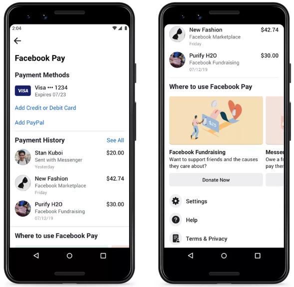 Facebook Pay خدمة دفع جديدة تدعم فيس بوك وانستجرام وواتساب