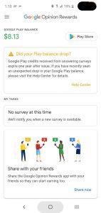 تشرح جوجل سبب اختفاء أرصدة المستخدمين في تطبيقها Opinion Rewards