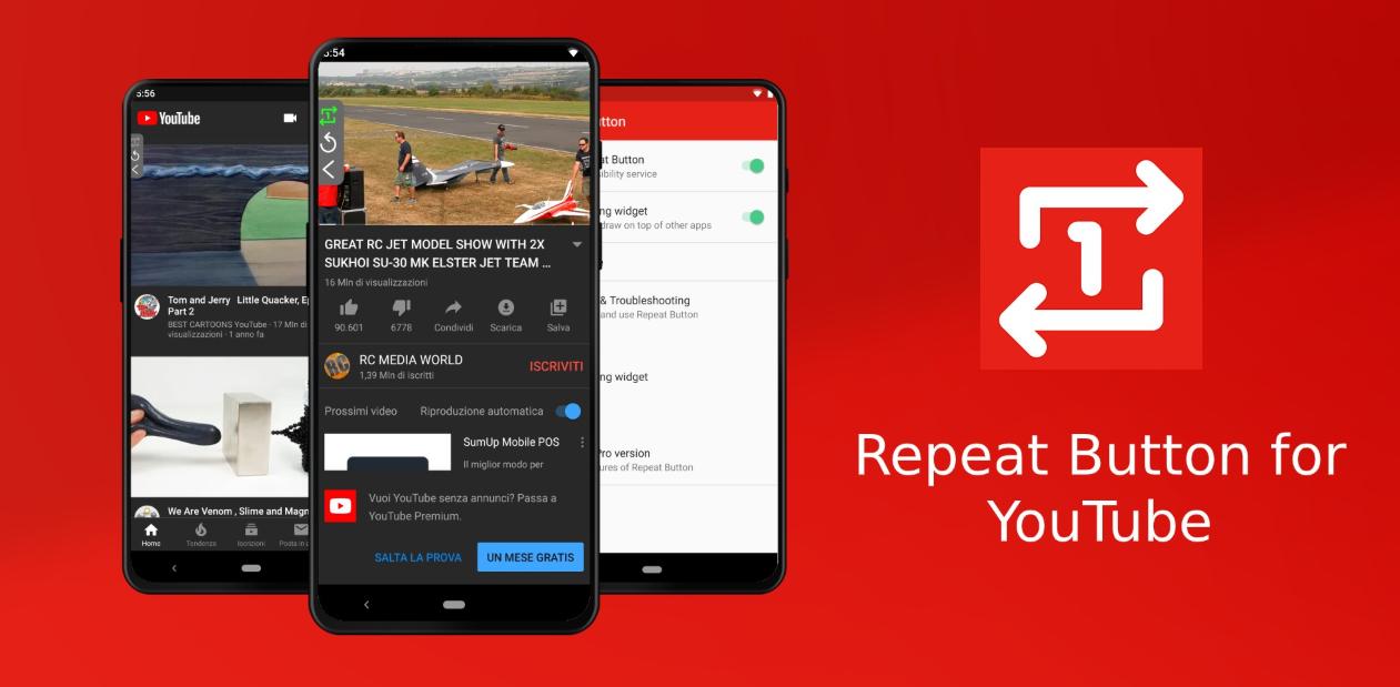 تطبيق Repeat Button for YouTube الجديد لتكرار الفيديو في تطبيق يوتيوب وأكثر