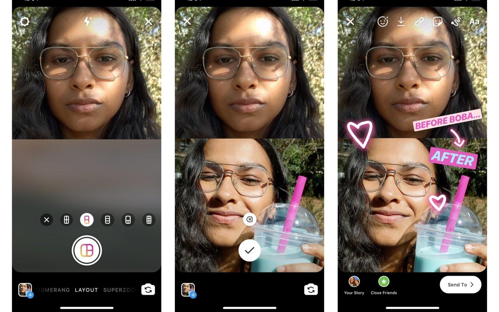 تطبيق إنستجرام يدعم الآن التقاط صور متعددة ومشاركتها في قصتك