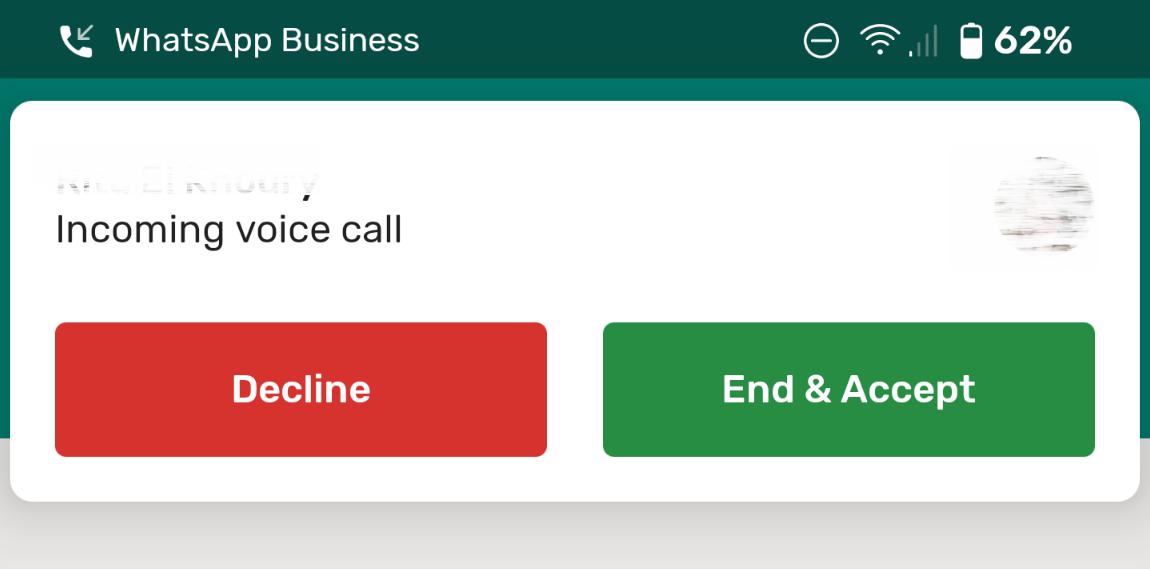 واتساب يدعم أخيرًا ميزة انتظار المكالمات ولكن بدون تعليقها