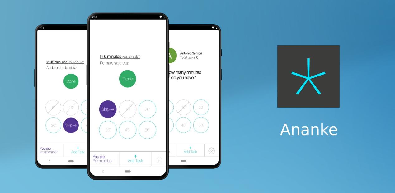 يسمح لك تطبيق Ananke على أندرويد الجديدبإكمال مهامك على أساس الوقت المتاح