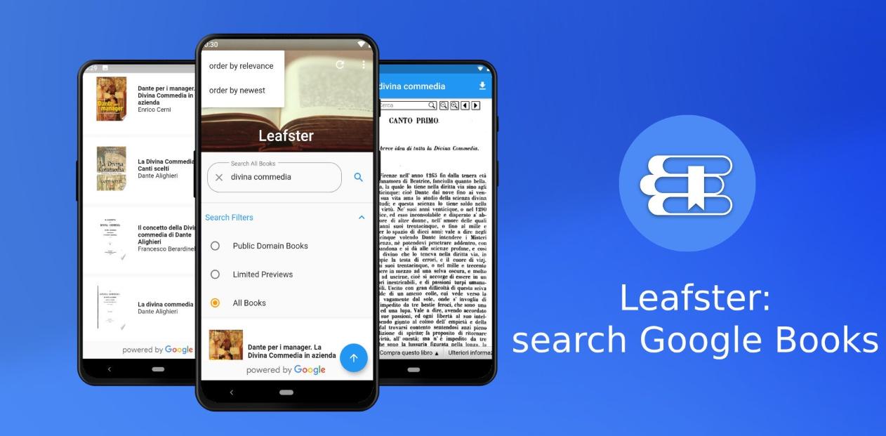تطبيق Leafster الجديد على أندرويد يُتيح لك البحث في كتب جوجل