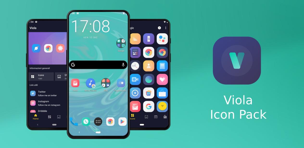 مع تطبيق Viola icon pack سيحصل هاتفك الأندرويد على مظهر نظام iOS