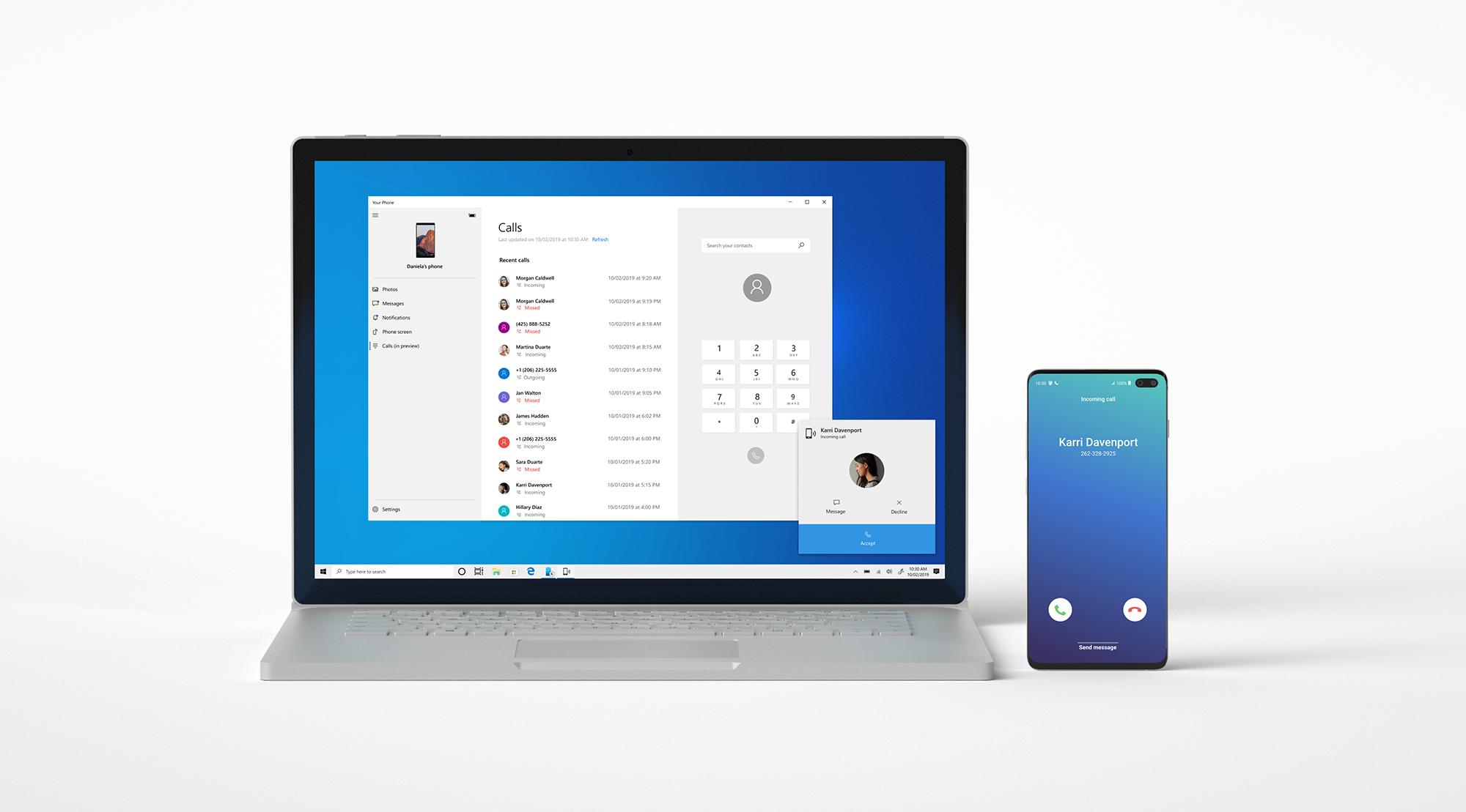 مايكروسوفت تُتيح ميزة المكالمات في تطبيقها Your Phone للجميع