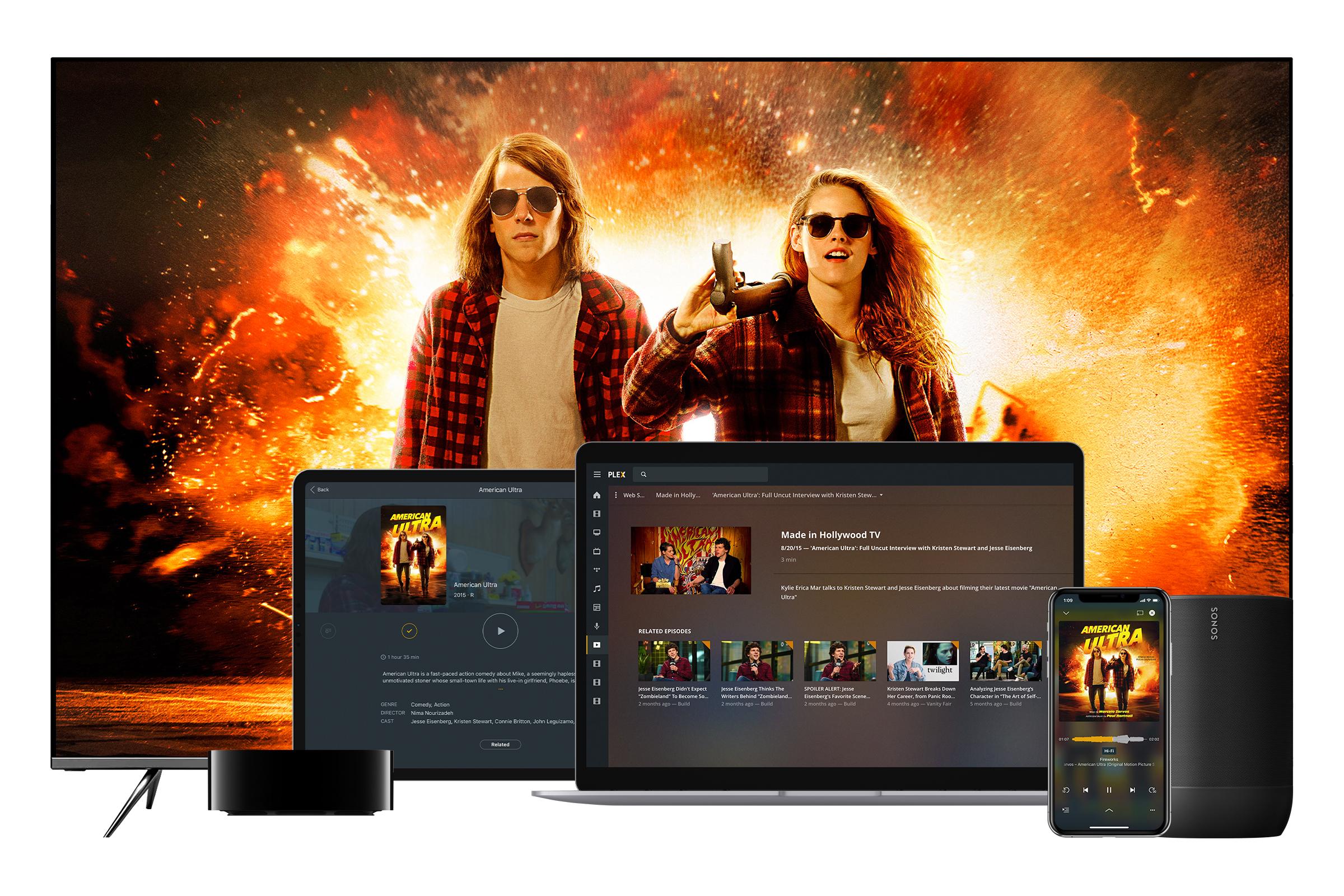 Plex تُقدّم خدمة البث المباشر المجانية للأفلام والبرامج التلفزيونية وأكثر