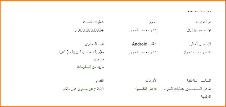 تطبيق واتساب يتجاوز خمس مليارات تنزيل من على متجر جوجل بلاي