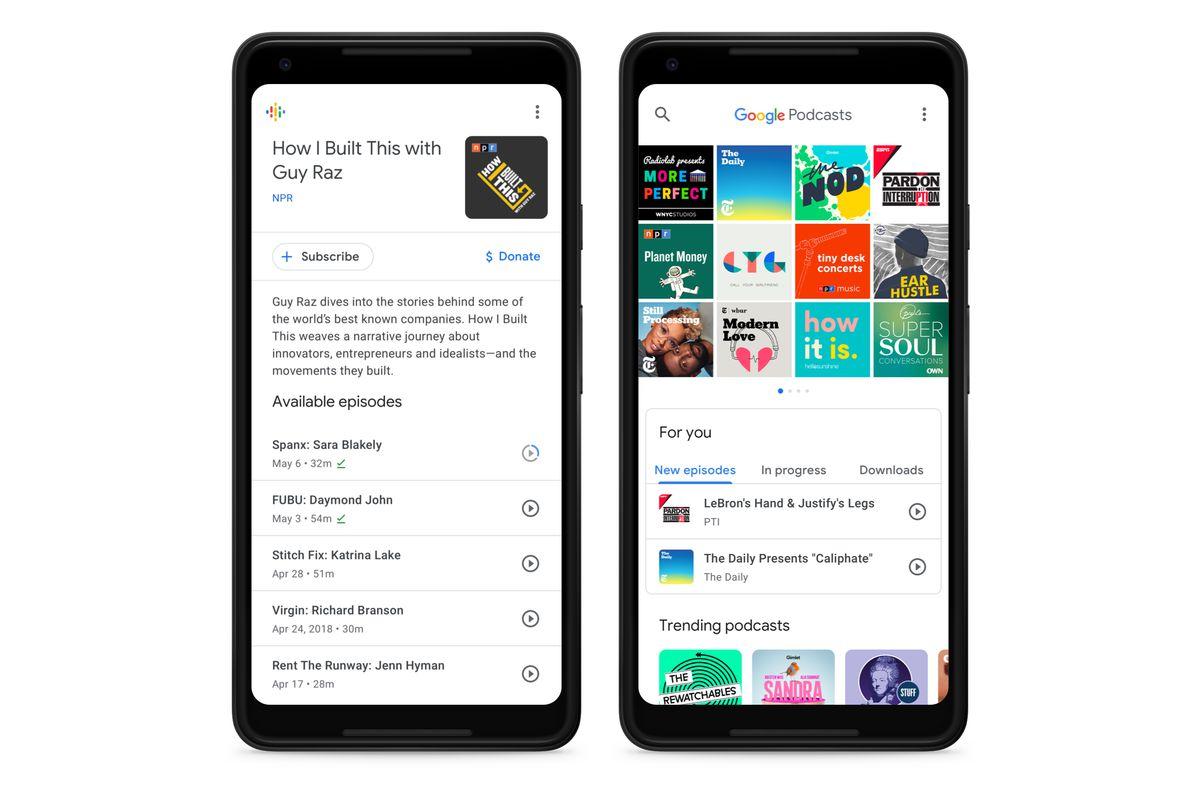 جوجل تُحدّث تطبيقها البودكاست بدعمه لمحوّل حسابات جديد