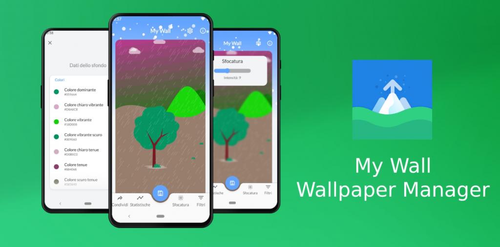 يسمح لك التطبيق الجديد My Wall باستخراج ألوان الخلفيات وتطبيق الفلاتر عليها والمزيد