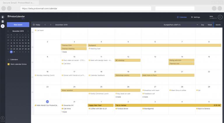 تطبيق ProtonCalendarالجديد يُقدّم جدول أعمال مُشفّر تشفيرًا تامًا