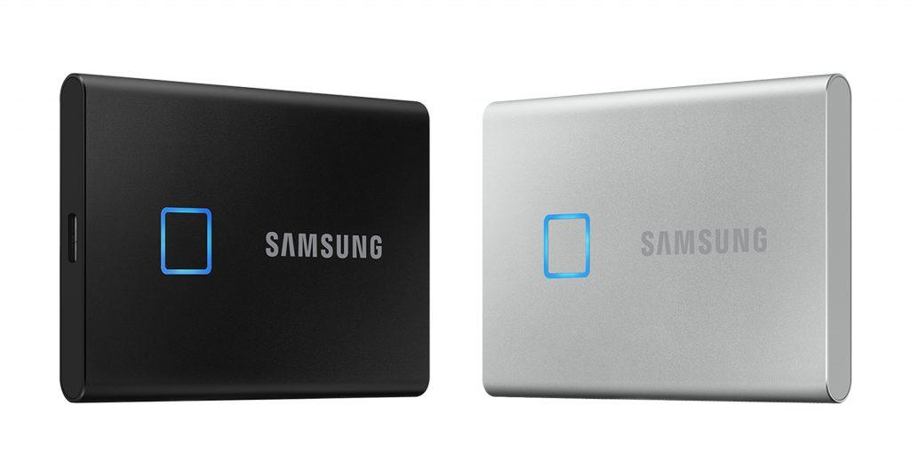 CES 2020: سامسونج تكشف عن قرص التخزين الخارجي T7 Touch SSD بمستشعر بصمة