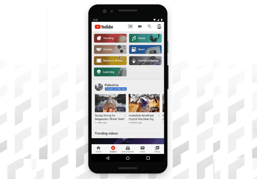 """بعد عامين من الاختبار يوتيوب تُطلق علامة التبويب الجديد """"الاستكشاف"""" في تطبيقاتها"""