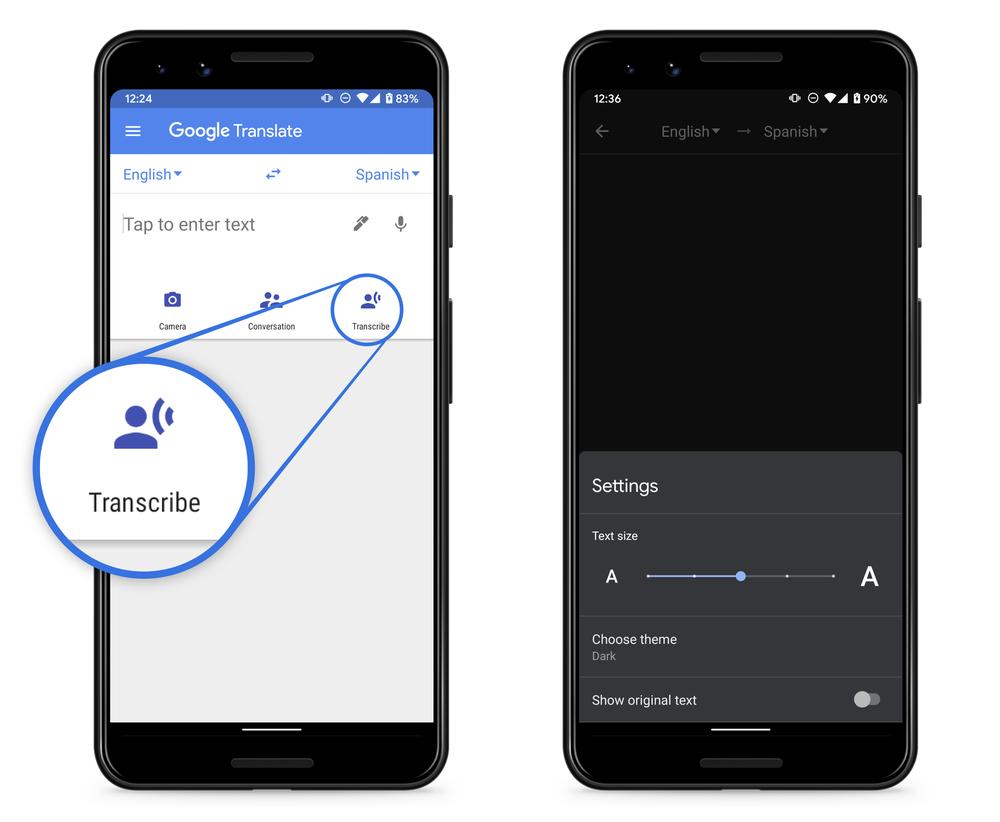 """تطبيق ترجمة جوجل يدعم الآن ميزة النسخ في الوقت الحالي """"الترجمة الفورية"""""""