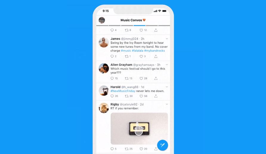 تطبيق تويتر على أندرويد سيدعم تثبيت القوائم المخصصة على واجهته الرئيسية