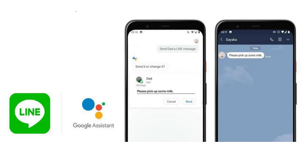 مساعد جوجل يدعم الآن إرسال رسائل عبر لاين