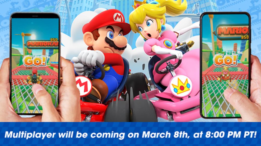رسميًا اللعب المتعدد في Mario Kart Tour سيكون متاح في 8 مارس الحالي