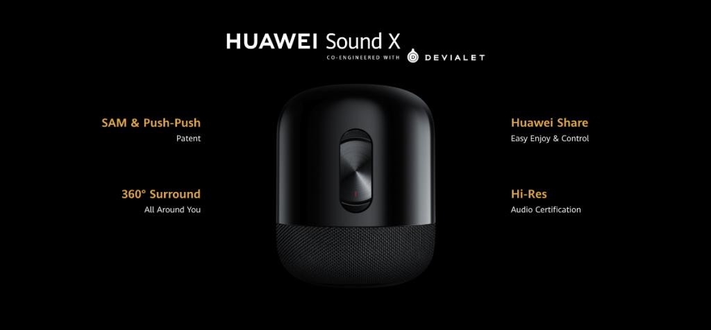 هواوي تُعلن عن إتاحة مكبر الصوت Sound X بالتعاون مع Devialet حول العالم بداية صيف 2020