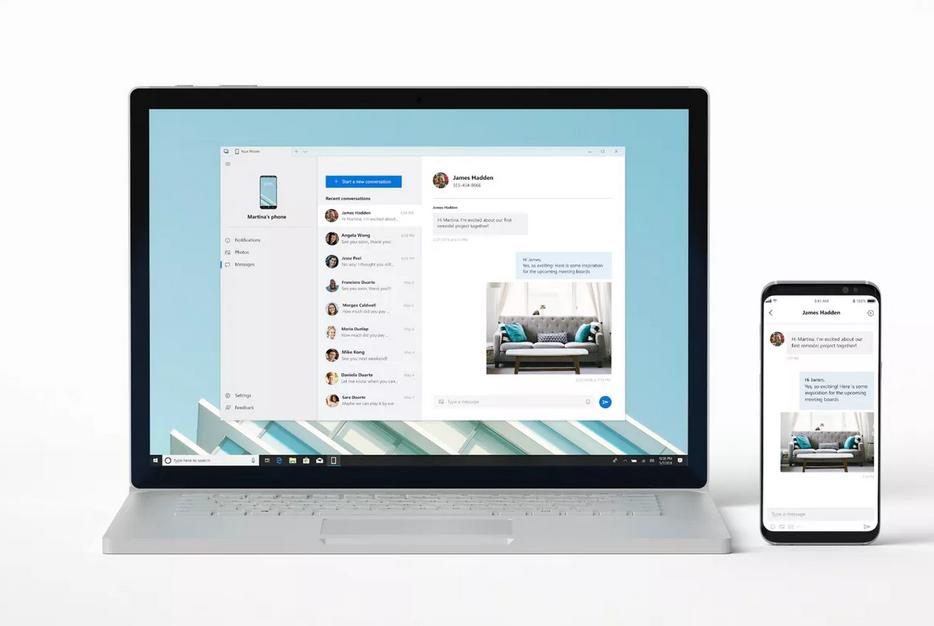 تطبيق مايكروسوفت Your Phone أصبح يدعم النسخ واللصق عبر الأنظمة ورسائل RCS على أحدث هواتف سامسونج