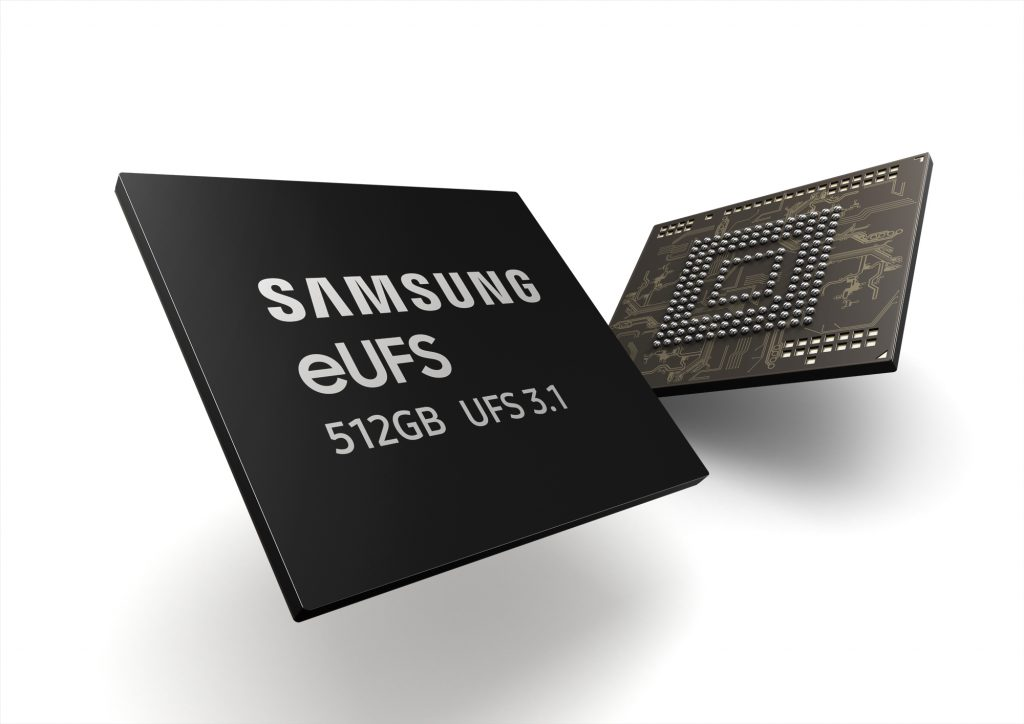 سامسونج تبدأ الإنتاج المكثف لأسرع ذاكرة تخزين موجهة للهواتف الذكية الرائدة - eUFS 3.1