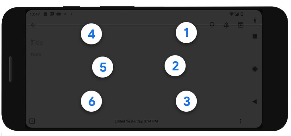 TalkBack لوحة مفاتيح برايل من جوجل لمستخدمي أندرويد