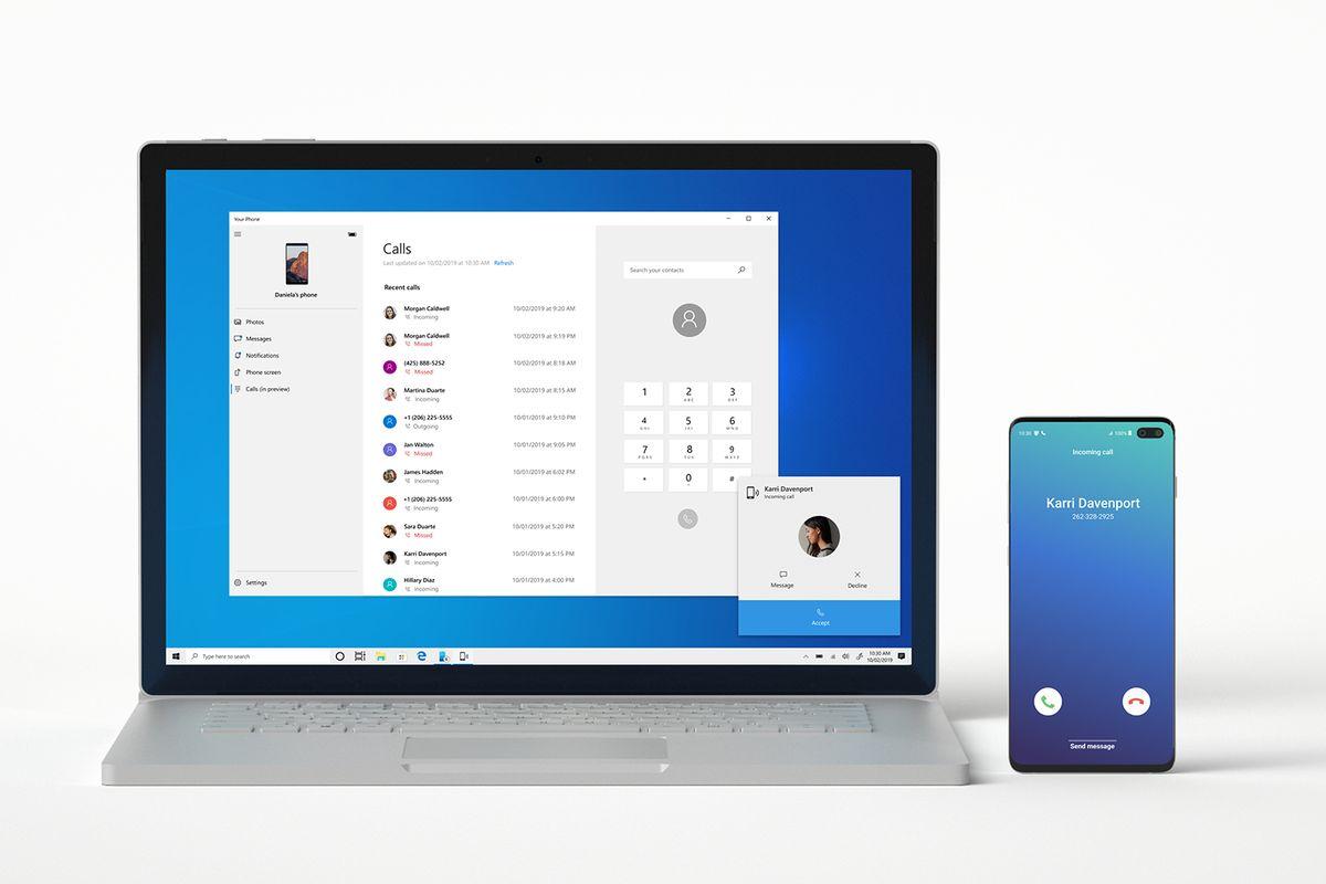 تطبيق Your Phone من مايكروسوفت يدعم ميزة السحب والإفلات لهواتف سامسونج