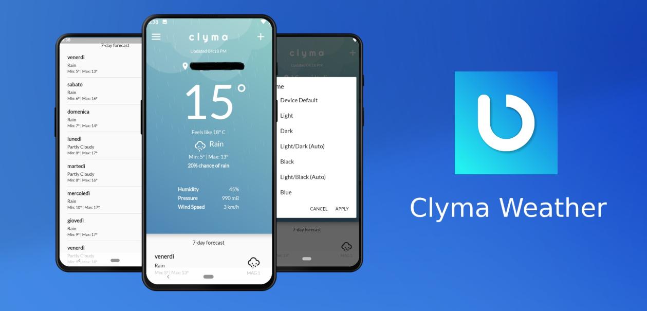جديد التطبيقات: Clyma Weather يظهرتوقعات الطقس ببساطة ووضوح