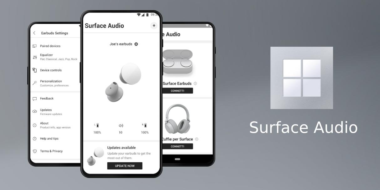 مايكروسوفت تطلق تطبيق Surface Audio لسماعات Surface Earbuds و Headphones 2
