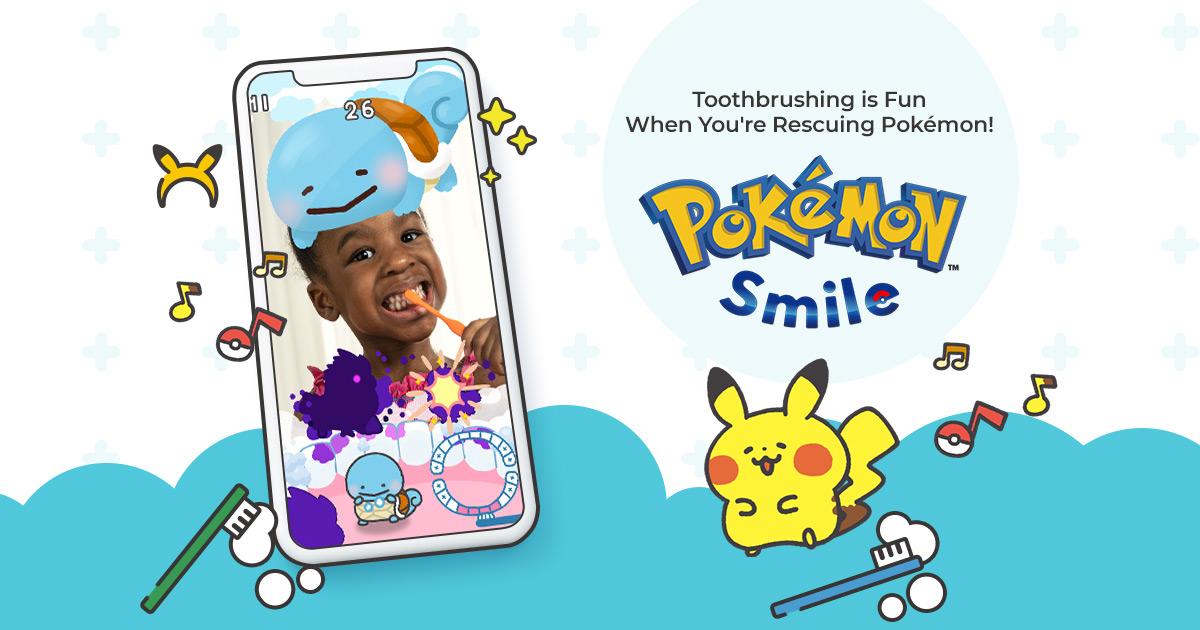 تطبيق Pokémon Smile لتحفيز الصغار على تنظيف أسنانهم من خلال اللعب
