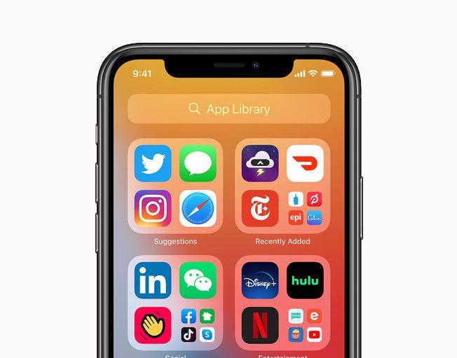 نظام تشغيل آيفون iOS 14