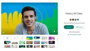 جوجل تتيح إضافة خلفية افتراضية لخدمة محادثات الفيديو Meet