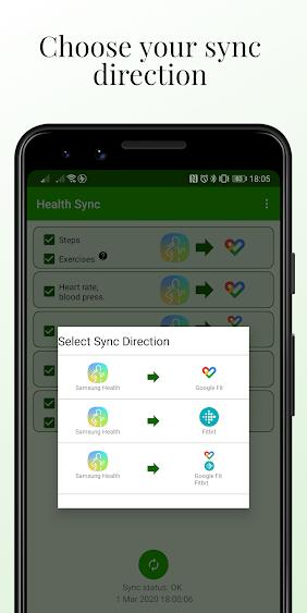 تطبيق Health Sync سيُمكنك من مزامنة جميع بيانات اللياقة البدنية من جميع المصادر