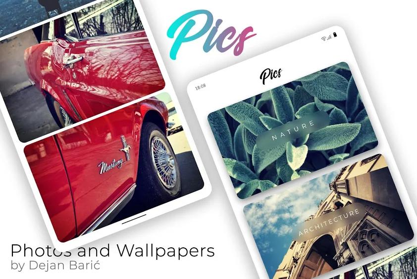 خصص جهازك الأندرويد مع الخلفيات الحصرية التي يُقدّمها تطبيق Pics