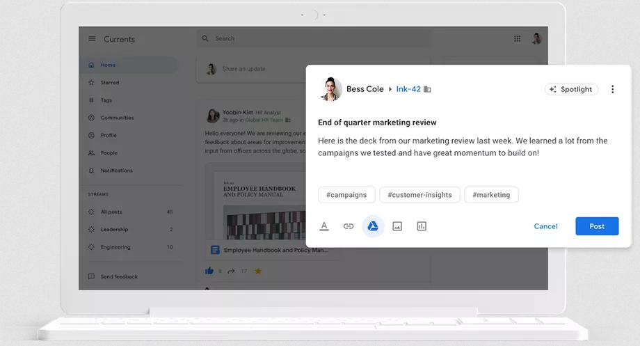 خدمة Currents من جوجل ستحلّ محل الشبكة الاجتماعية جوجل بلس