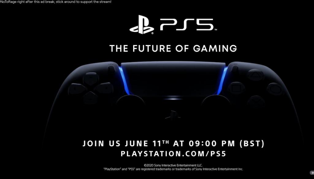 """سوني ربما تكشف عن بلايستيشن 5 """"PS5"""" في 11 يونيو بحسب إعلان ظهر على تويتش"""