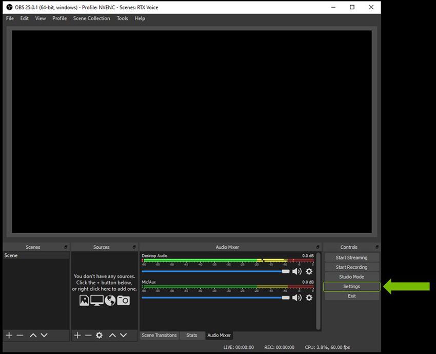 OBS Studio - NVIDIA RTX Voice