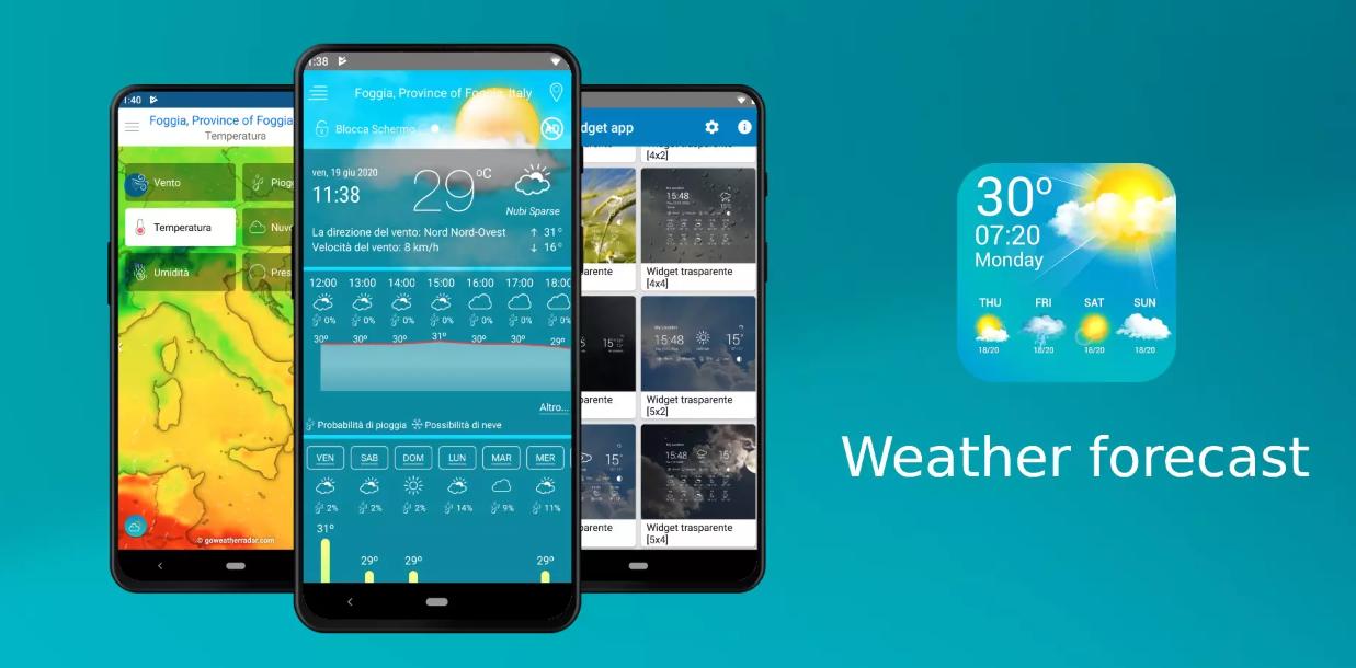 جديد التطبيقات: Weather forecast لعرض توقعات الطقس وأكثر