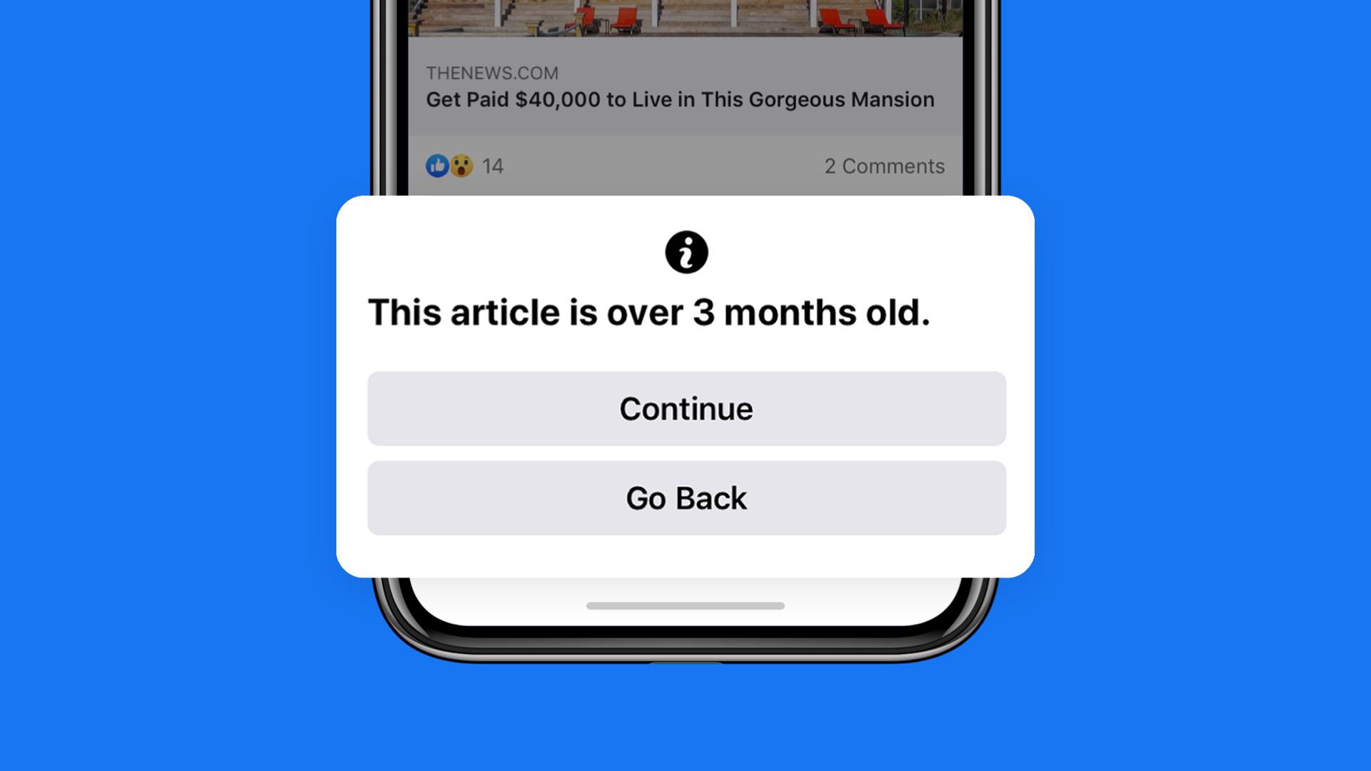 فيس بوك توفر ميزة جديدة لتنظيم مشاركة الأخبار القديمة عبر المنصة - Facebook