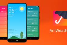 AniWeather تطبيق جديد يعرض لك توقعات الطقس مع رسوم متحركة جديدة
