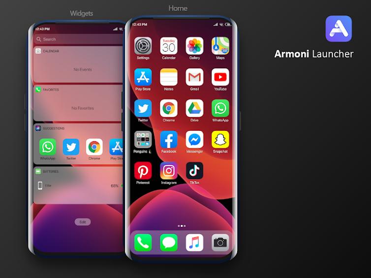 Armoni Launcher تطبيق يوفر مظهر إصدار iOS 14 على أندرويد