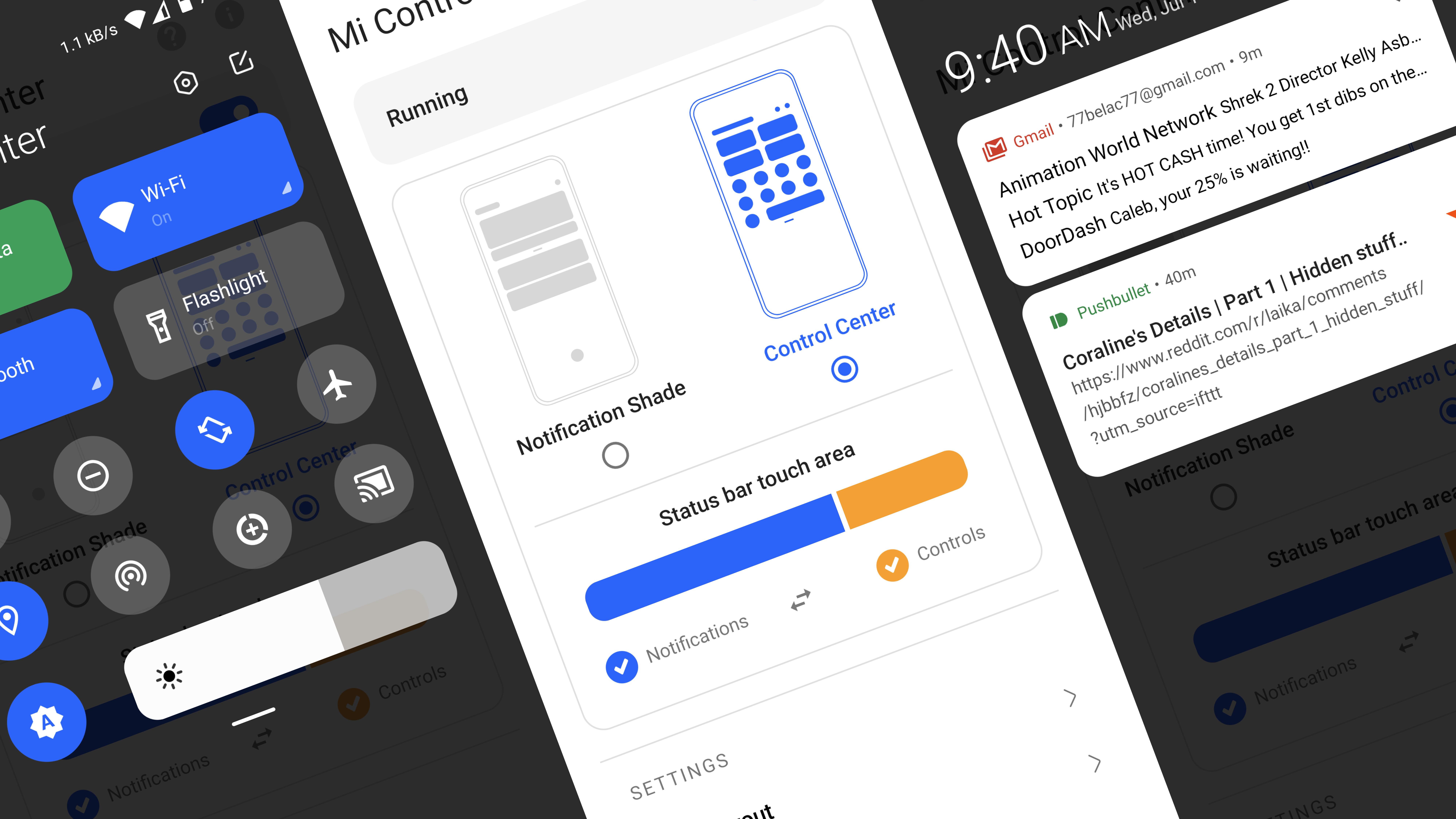 مع هذا التطبيق احصل على تصميم iOS في لوحة الإعدادات السريعة على أندرويد - Mi Control Center