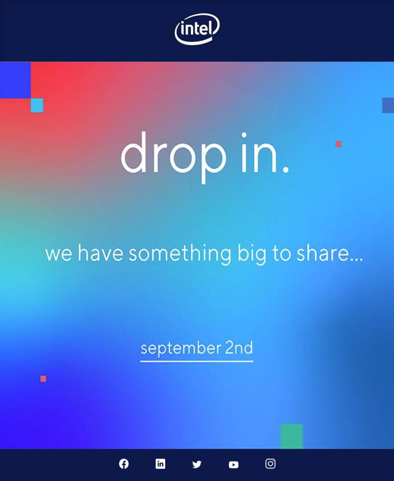 إنتل تعلن عن حدث افتراضي في 2 سبتمبر للكشف عن
