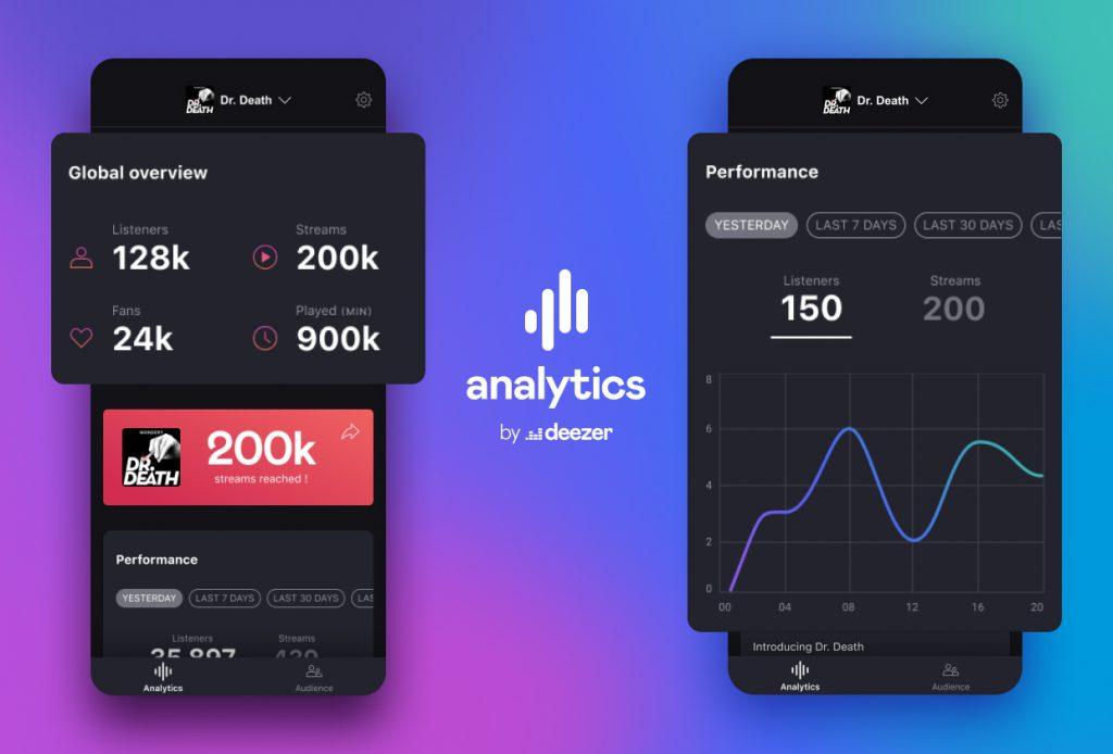 ديزر تطلق تطبيق مخصص لصانعي محتوى البودكاست يمنحهم معلومات شاملة عن محتواهم - Analytics by Deezer