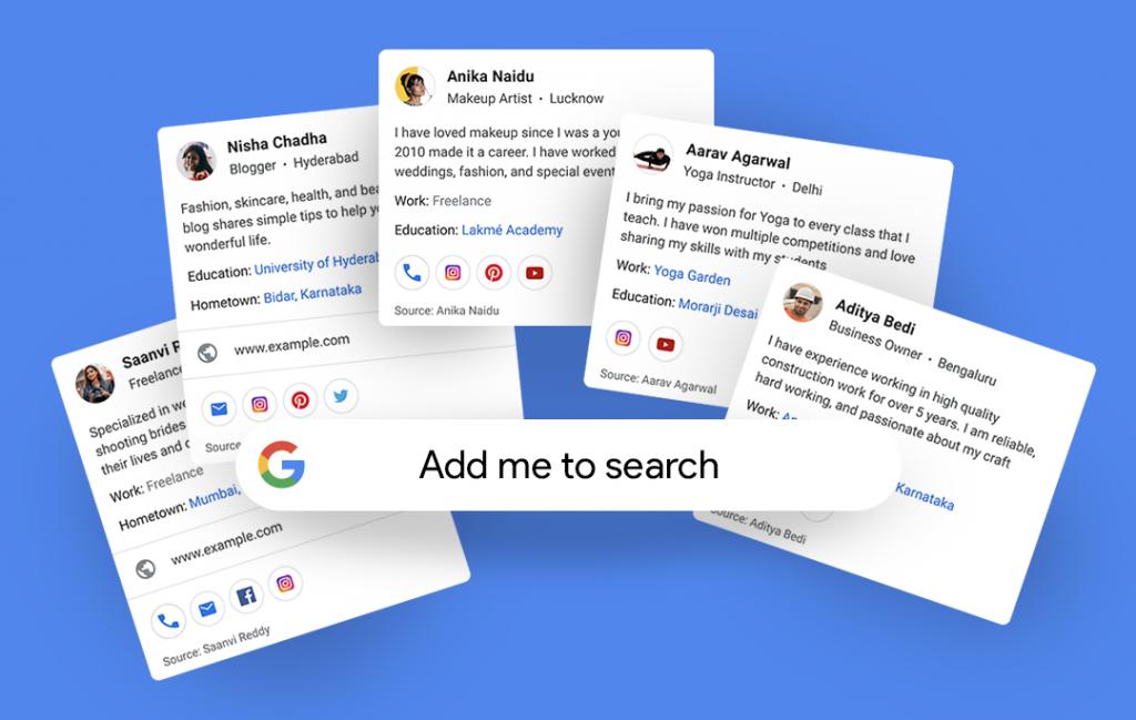 جوجل تختبر إنشاء ملف شخصي ( بطاقة تعريفية ) خاص بك ضمن نتائج البحث - People Card